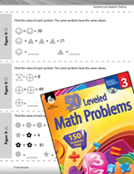 Operations and Algebraic Thinking Leveled Problems: Using Shapes as Symbols