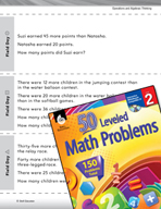 Operations and Algebraic Thinking Leveled Problems:  Word Problems