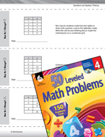 Operations and Algebraic Thinking Leveled Problems: X and Y Values