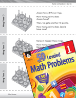 Operations in Base Ten Leveled Problem: Addition Problem Solving - Ring Toss