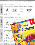 Operations in Base Ten Leveled Problem: Addition and Subtraction to Get a Prize