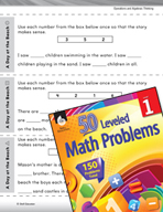 Operations in Base Ten Leveled Problem: Problem Solving A Day at the Beach