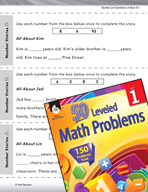 Operations in Base Ten Leveled Problem: Problem Solving - Number Stories