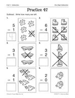 Operations in Base Ten: One-Digit Subtraction Practice