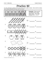 Operations in Base Ten: Subtracting Number Sentences Practice