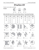 Operations with Fractions: Fractions and Decimals Practice