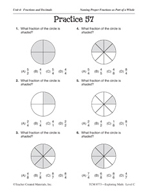 Operations with Fractions: Naming Fractions Practice
