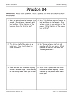 Operations with Fractions: Problem Solving Practice