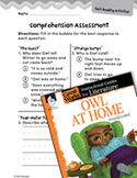 Owl at Home Comprehension Assessment (Great Works Series)