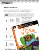 Owl at Home Leveled Comprehension Questions (Great Works Series)