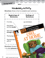 Owl at Home Vocabulary Activities (Great Works Series)