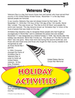 Patriotic Activities - Veterans Day