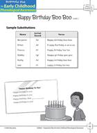 Phoneme Awareness: Initial Phonemes - Baby Birthday Boo Boo