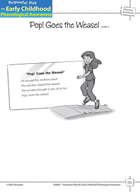 Phoneme Awareness: Initial Phonemes - Pop! Goes the Weasel