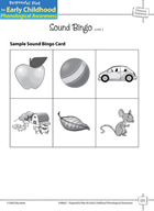 Phoneme Awareness: Initial Phonemes - Sound Bingo