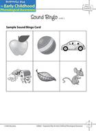 Phoneme Awareness: Initial Phonemes - Sound Bingo