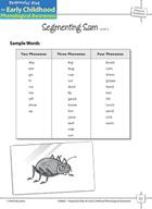 Phoneme Awareness: Segmenting Words into Phonemes - Segmen