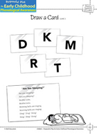 Phoneme Awareness with Letters: Matching Phonemes to Letters - Draw a Card -