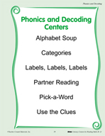 Phonics and Decoding Centers for Grades K-2