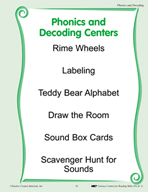 Phonics and Decoding Centers for Grades PK-1