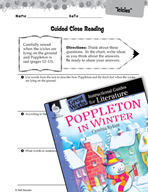 Poppleton in Winter Close Reading and Text-Dependent Quest