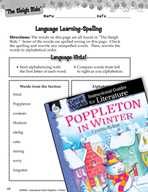 Poppleton in Winter Language Learning Activities (Great Works Series)