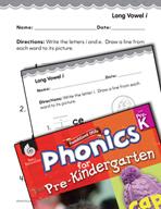 Pre-Kindergarten Foundational Phonics Skills: Long Vowel i