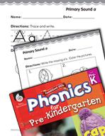 Pre-Kindergarten Foundational Phonics Skills: Primary Sound a