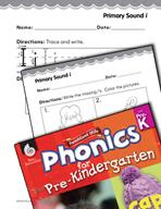 Pre-Kindergarten Foundational Phonics Skills: Primary Sound i