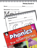 Pre-Kindergarten Foundational Phonics Skills: Primary Sound m