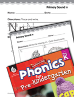 Pre-Kindergarten Foundational Phonics Skills: Primary Sound n