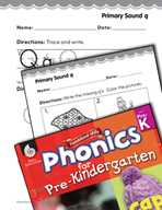 Pre-Kindergarten Foundational Phonics Skills: Primary Sound q