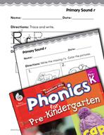 Pre-Kindergarten Foundational Phonics Skills: Primary Sound r
