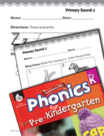 Pre-Kindergarten Foundational Phonics Skills: Primary Sound z