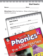Pre-Kindergarten Foundational Phonics Skills: Short Vowel a
