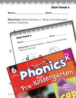 Pre-Kindergarten Foundational Phonics Skills: Short Vowel o