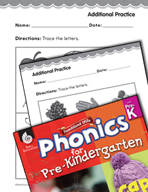 Pre-Kindergarten Foundational Phonics Skills: Trace the Letters