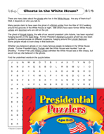Presidential Puzzlers - Reading Critical Thinking Activiti