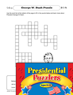 Presidential Puzzlers - Social Studies Critical Thinking Activities (Set 1)