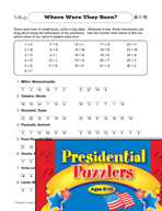 Presidential Puzzlers - Social Studies Critical Thinking A