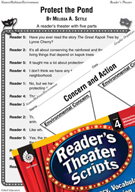 Protect the Pond Reader's Theater Script and Lesson