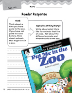 Put Me in the Zoo Reader Response Writing Prompts (Great Works Series)