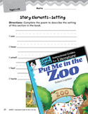 Put Me in the Zoo Studying the Story Elements (Great Works Series)