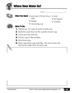 Quick Science Lab: Where Does the Water Go?