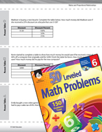 Ratios and Proportional Relationships Leveled Problems: Percent Tables