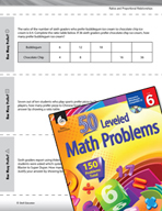 Ratios and Proportional Relationships Leveled Problems: Ratios and Ratio Tables