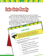 Read and Succeed Comprehension Level 1: Logical Order Passages and Questions