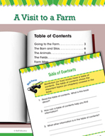 Read and Succeed Comprehension Level 1: Table of Contents Passages and Questions