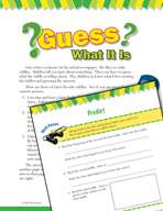 Read and Succeed Comprehension Level 3: Predicting Passages and Questions