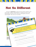 Read and Succeed Comprehension Level 3: Typeface and Captions Passages and Questions